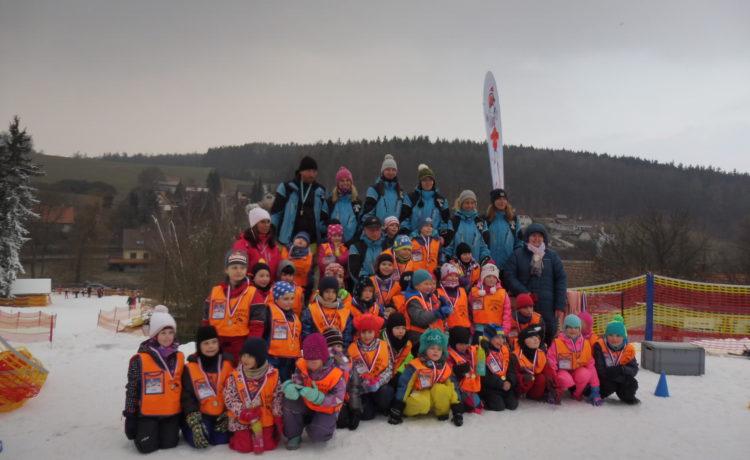 Lyžování na Chotouni leden 2019